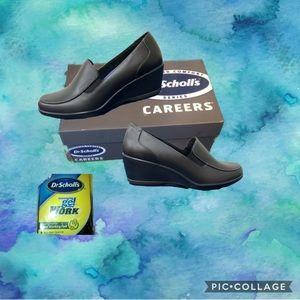 Dr. Scholls career black comfort gel shoes loafer